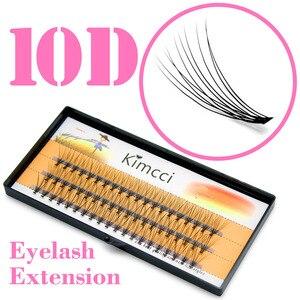 d185128e2d1 Kimcci 60pcs Natural Long Individual Cluster Eyelash Extension Professional  10D Mink False Eyelashes Makeup Faux Soft ...