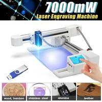 3000mw/7000mW Professional DIY Desktop Mini Laser Engraver Cutter Engraving Wood Cutting Machine CNC Router Logo Mark Printer