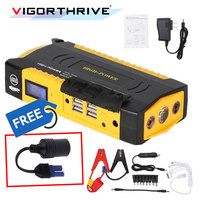 Starting Device Petrol Diesel Car Starter 600A Emergency 12V Car Jump Starter Power Bank Portable Car Battery Booster Charger