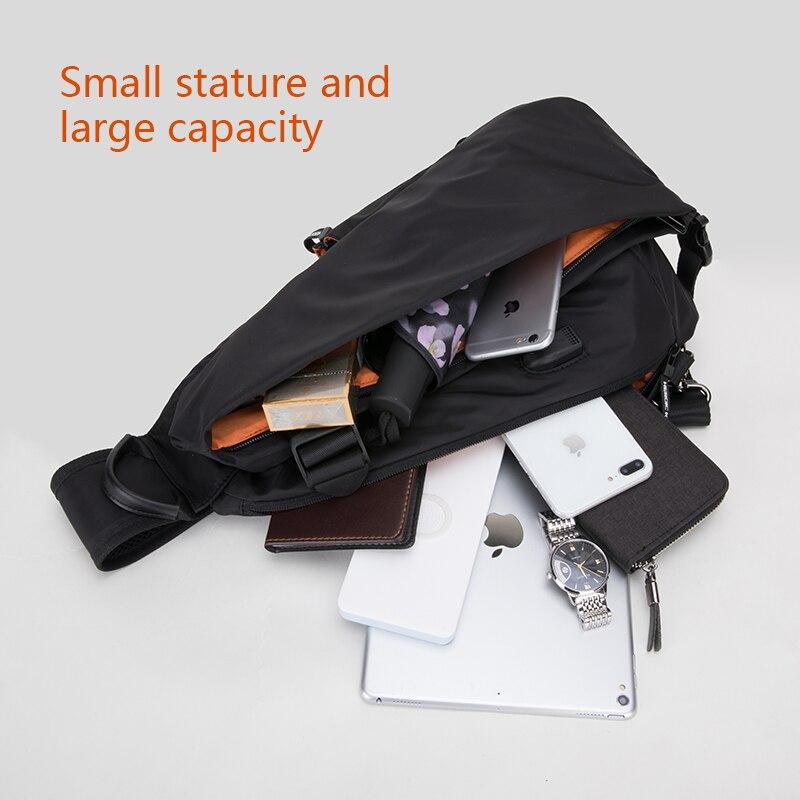 هونج كونج متعددة الوظائف الأزياء Crossbody أكياس الرجال USB شحن الصدر حزمة قصيرة رحلة رسل حقيبة المياه طارد حقائب كتف-في حقائب كروسبودي من حقائب وأمتعة على  مجموعة 3