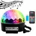 Световые огни DJ диско шар 12 Вт bluetooth Голосовое управление LED магический шар лампа красочные MP3 диско с пультом дистанционного управления