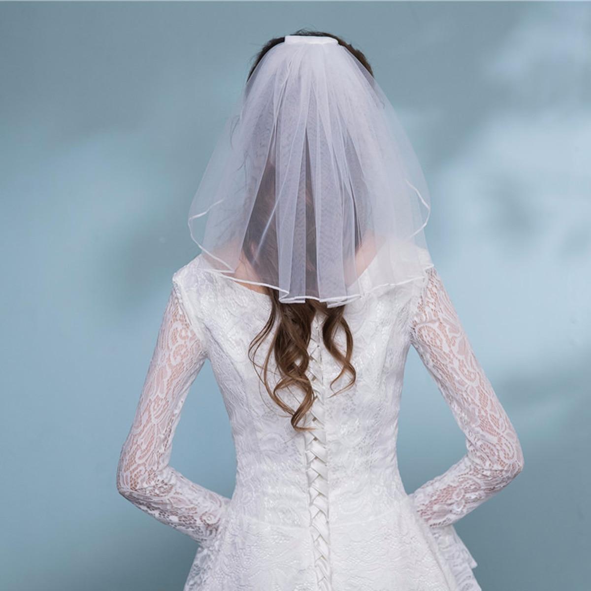 Zacoo Women Ivory Lace Bridal Veils