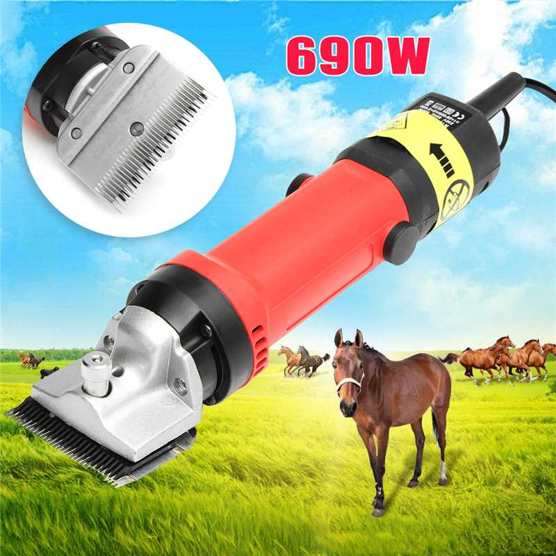 Doersupp 690W Electric Horse Sheep Clipper Sheep Goat Trimmer Shaver Cutter Horse Farm Shearing Machine US
