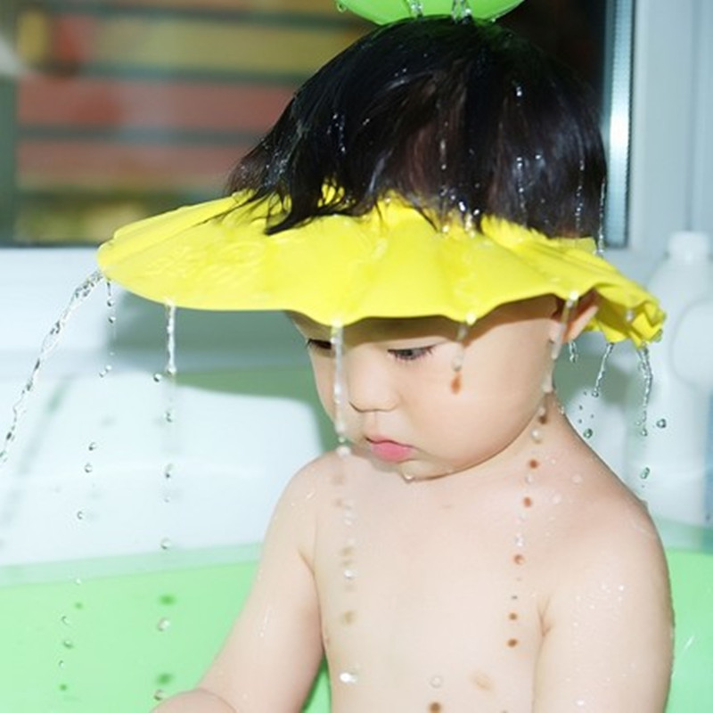 soft Baby Care Kids Hats For Children Shampoo Bathing Shower Cap Visor Safety Hat Wash Hair Shield For 3 Years Free Shipping