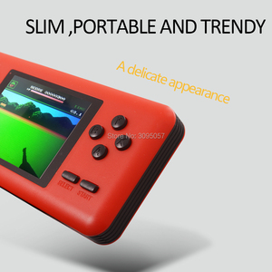 Image 2 - WOLSEN 8 Bit Retro Station Pocket Handheld Game Built in 586 games 3.0 Inch Video Game Console Support Micro TF card Load game