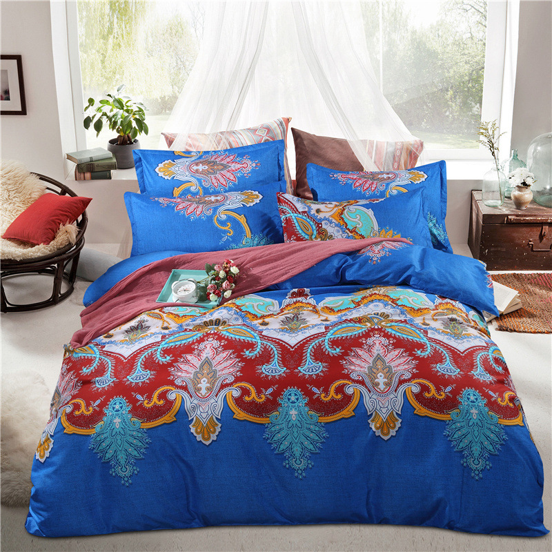 Bedding Sets Bohemian Style Reversible 4pcs Duvet Cover Sets Pillowcases Boho Comforter CoversBedding Sets Bohemian Style Reversible 4pcs Duvet Cover Sets Pillowcases Boho Comforter Covers