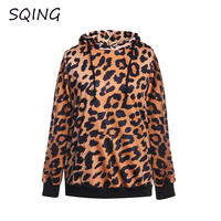 SQING Hoodies Gothic Sweatshirts Women Clothing Leopard Round Neck European American Style Sexy Clothes Spring Fall Costumes