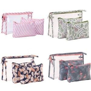 3 Pcs New Arrive Flamingo Cosmetic Bag W
