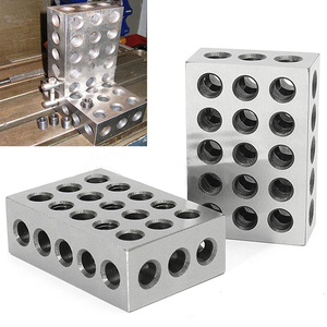 "Image 2 - 2pcs/set Hardened Steel 25 50 75mm Blocks 0.0001"" Precision Matched Machinist 123 Milling Tool 23 Holes 1 2 3"" block gauge"