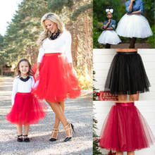 46705c8376 Family Matching Outfit Clothes Mother Daughter Party Tutu Soild Skirt  Outfits