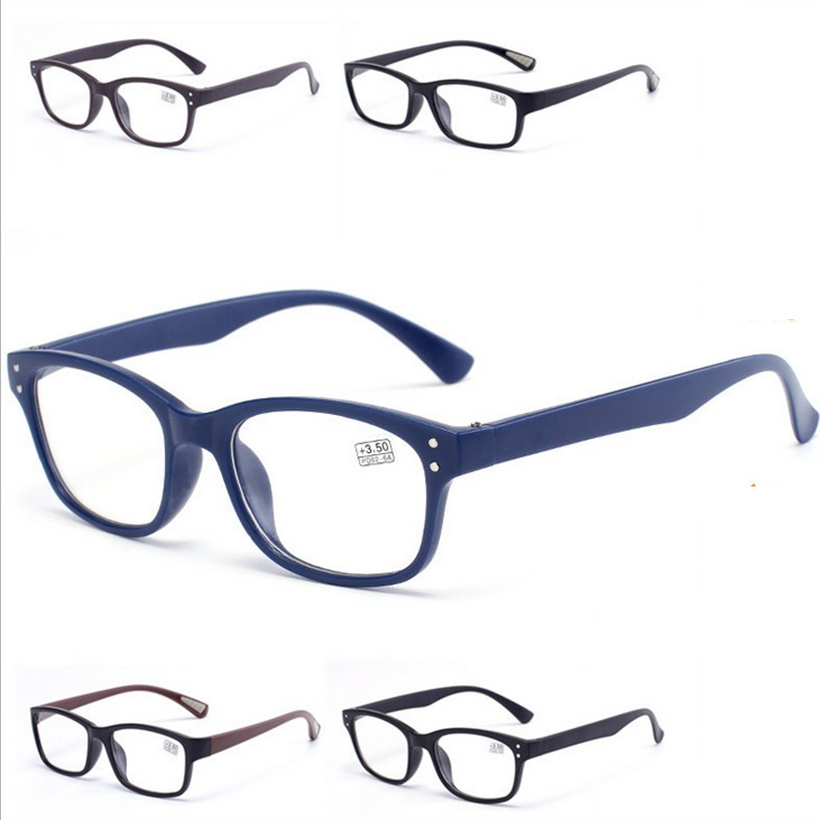 Oulylan Women Reading Glasses Men Retro Fashion Hyperopia Prescription Vintage Eyeglasses Diopter 1.0 1.5 2.2 2.5 3.0 3.5 4.0