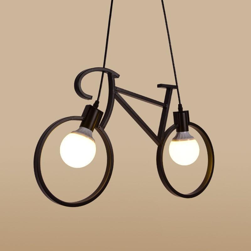 Ipari vintage kerékpár vas medál könnyű retro fekete-fehér - Beltéri világítás