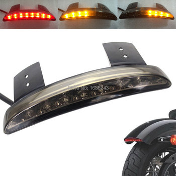 Wholesale 10 pieces Fender Edge LED Tail Light Turn Signals Red Smoke Clear Fit For Harley Sportster 883 1200 Cafe Racer New