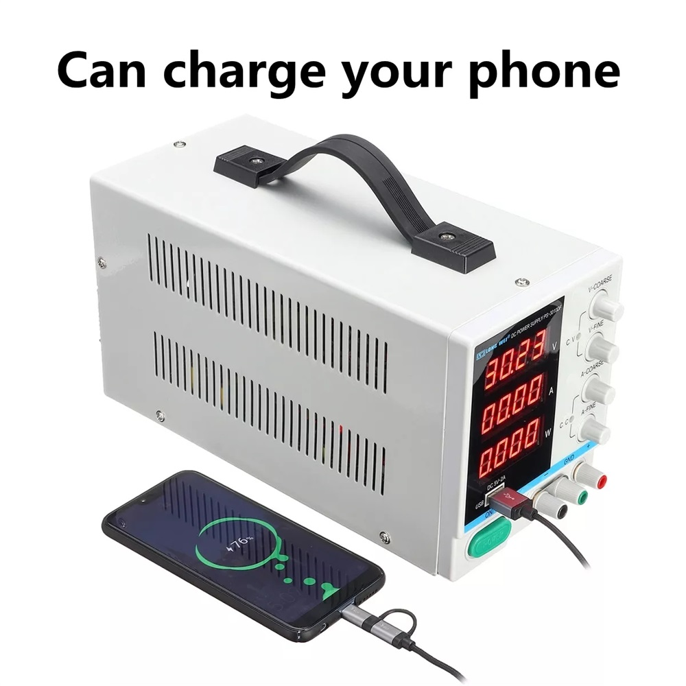 30V 10A Adjustable Power Supply Mini DC Voltage Current Voltage Regulator 220V 110V Input Led Digital Display Lab Power Supply