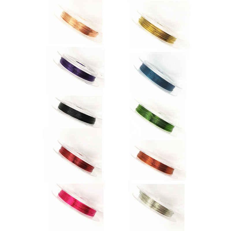 1 рулон 0,3 мм 10 м мягкая Полезная прочная медная проволока из сплава DIY для рукоделия, бисероплетение, проволока для изготовления ювелирных изделий, шнур, аксессуары для струн, ювелирная находка