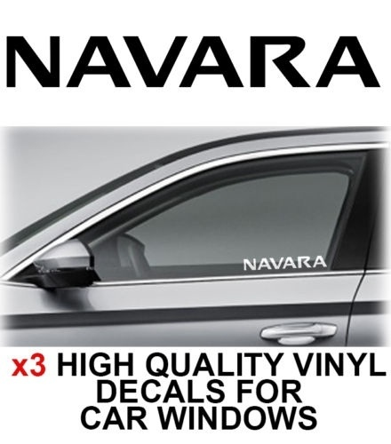 3 Pcs Opel Navara Window Sticker Decal Graphics 18x6.5cm