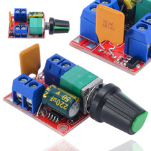 цена на New  5A Max 90W 3-35V 12V 24V PWM DC Motor Speed Controller Module Adjustable Speed Regulator Control Switch LED Fan Dimmer