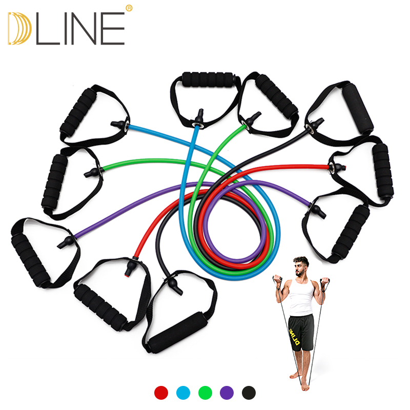 120cm Yoga Pull Rope Fitness Resistance Bands Exercise Tubes Practical Training Elastic Band Rope Yoga Workout Equiment For Home resistance fitness band stretching strap elastic exercise rope suitable for men