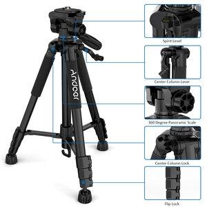 Image 4 - Andoer 2 choice 비디오 촬영을위한 57.5 인치 여행용 경량 카메라 삼각대 캐리 백 전화 클램프가있는 dslr slr 캠코더