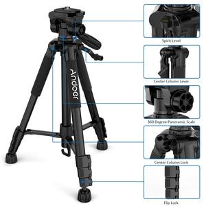Image 4 - Andoer trípode ligero de viaje para cámara, 2 opciones, 57,5 pulgadas, para Grabación de Vídeo, DSLR, videocámara SLR, con bolsa de transporte, abrazadera para teléfono