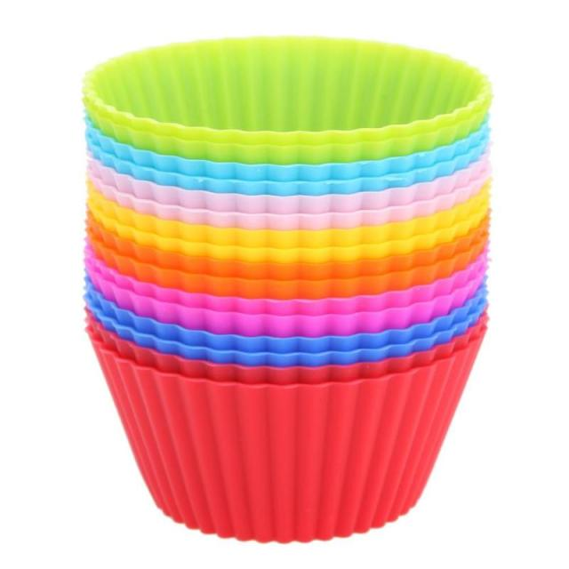 16 teile/los Muffin Cupcake Mould Bunte Runde Form Silikon Cupcake Mould Backformen Maker Form Tablett Backen Tasse Liner Formen