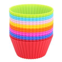 16pcs/lot Muffin Cupcake Mould Colorful Round Shape Silicone Cupcake Mould Bakeware Maker Mold Tray Baking Cup Liner Molds
