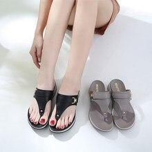 6e6b8236c Mulheres sandalias mujer 2018 New Bohemian sapatos Femininos plana Clipe  Pés Sapatos Sandálias Da Praia do Verão Chinelos fundo .