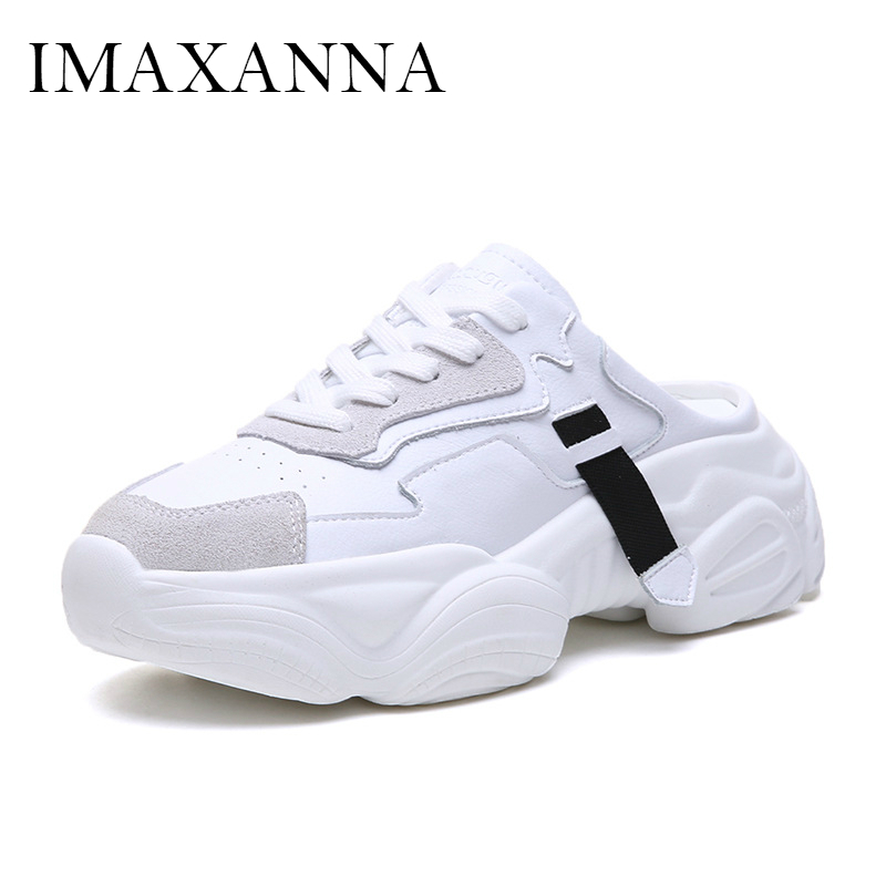 IMAXANNA New Fashion Womens Athletic Running Shoes Spring White Leisure Ladies Sneakers Shoes Adult Rubber Chunky Sport ShoeIMAXANNA New Fashion Womens Athletic Running Shoes Spring White Leisure Ladies Sneakers Shoes Adult Rubber Chunky Sport Shoe