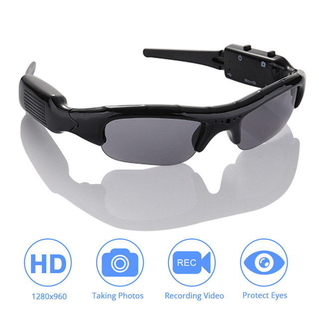 DVR משקפי שמש מצלמה אור משקל מיני DV וידאו מקליט TF מיני Eyewear מיני מצלמה משקפי שמש באיכות גבוהה