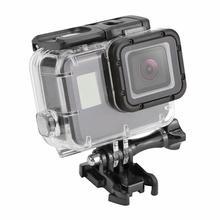 40m subaquática à prova dunderwater água caso para gopro hero 7 5 6 preto câmera de ação capa protetora habitação escudo quadro para gopro accessery