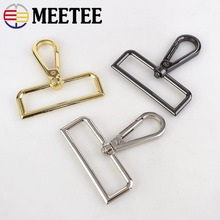 Meetee 2pcs 50mm Metal Buckle Keychain Strap Belt Clasps Lobster Hook Luggage Hardware Craft Part Decor Accessories F2-10
