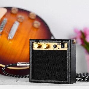 Портативный гитарный усилитель, Мини гитарный усилитель, динамик 5 Вт с 3,5 мм выходом для наушников, поддержка регулировки громкости