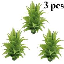 3PCS Exquisite Artificial Leaves Decorative Lifelike Green Pineapple Fake Plants Home Decoration Supplies