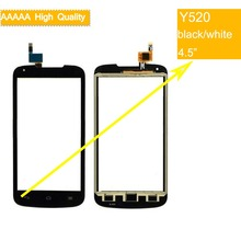 цена на 10Pcs/lot For Huawei Ascend Y520 Touch Screen Touch Panel Sensor Digitizer Front Outer Glass Lens Touchscreen No LCD black white