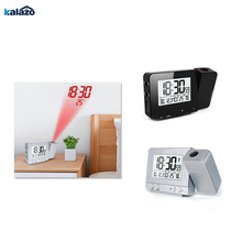 FJ3531 Projection Alarm Clock Digital Date Snooze Function Backlight Rotatable Wake Up Projector Multifunctional Led
