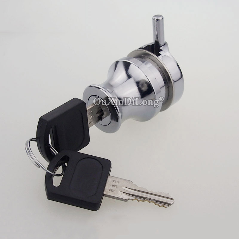 High Quality 100Sets Single Glass Door Lock Jewelry Shopping Malls Showcase Display Cabinet Chrome Finished