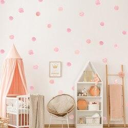 Tofok 36pcs/set Watercolor Dots Wall Sticker Removable Kids Room Bedroom Creative Decals DIY Vinyl Nursery Office Beautify Decor