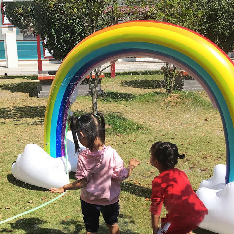 Jouet d'arrosage Portable arc-en-ciel gonflable innovant pour enfants jouet gonflable pour enfants - 5