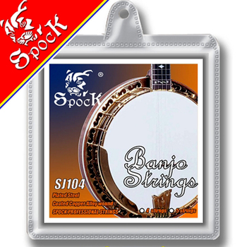 Spock Strings Banjo Coated Copper Alloy Wound Plated Steel Core SJ104 for 4-String Banjo image