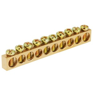 Image 3 - 10pcs 10 Hole Electrical Distribution Wire Screw Terminal Brass Ground Neutral Bar HOT
