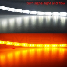 1Pcs Car Waterproof Flexible White/Yellow Switchback LED Knight Rider Strip Light Headlight Sequential Flasher Turn Signal