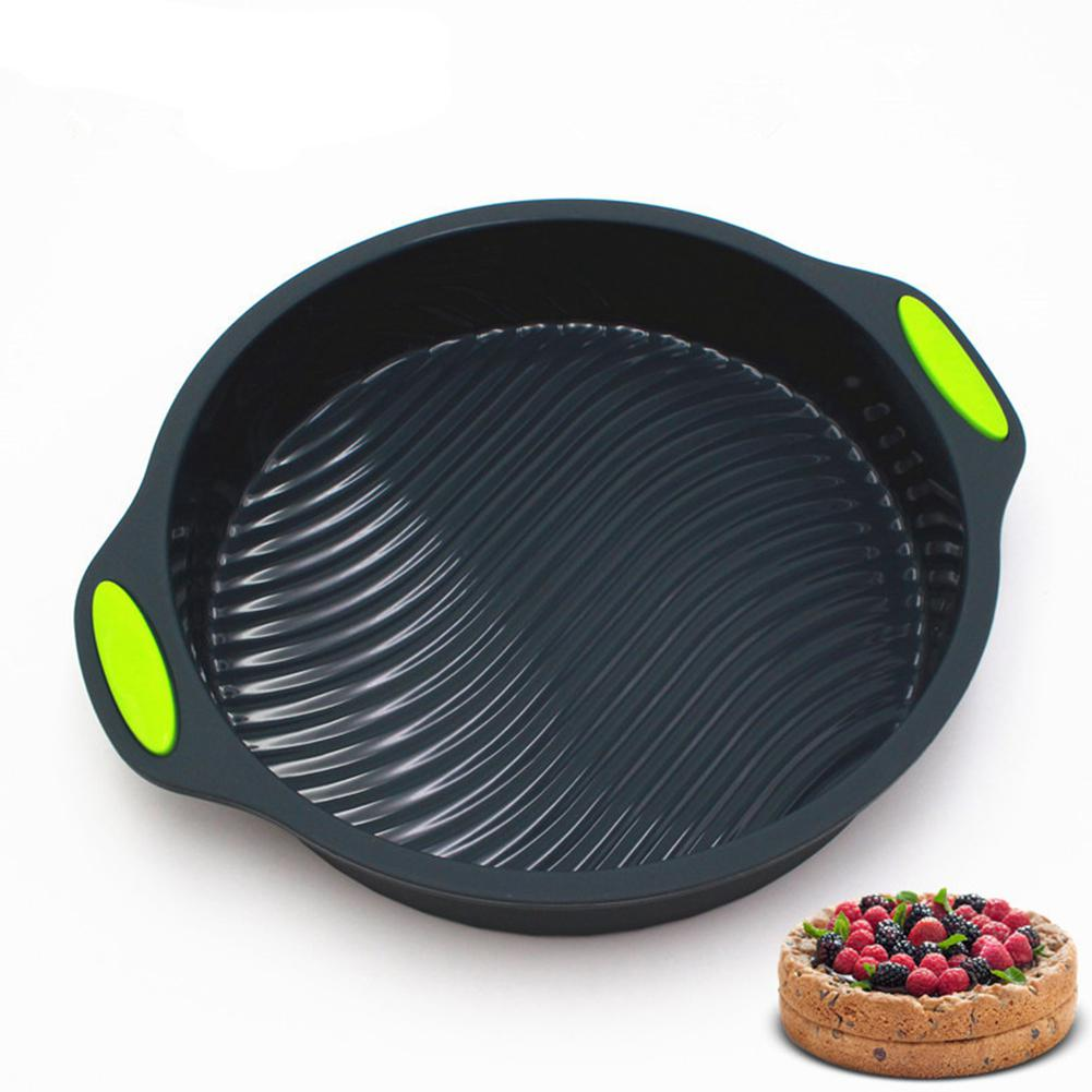 LanLan 9 Inches Round Shape Silicone Baking Tray for Kitchen Oven