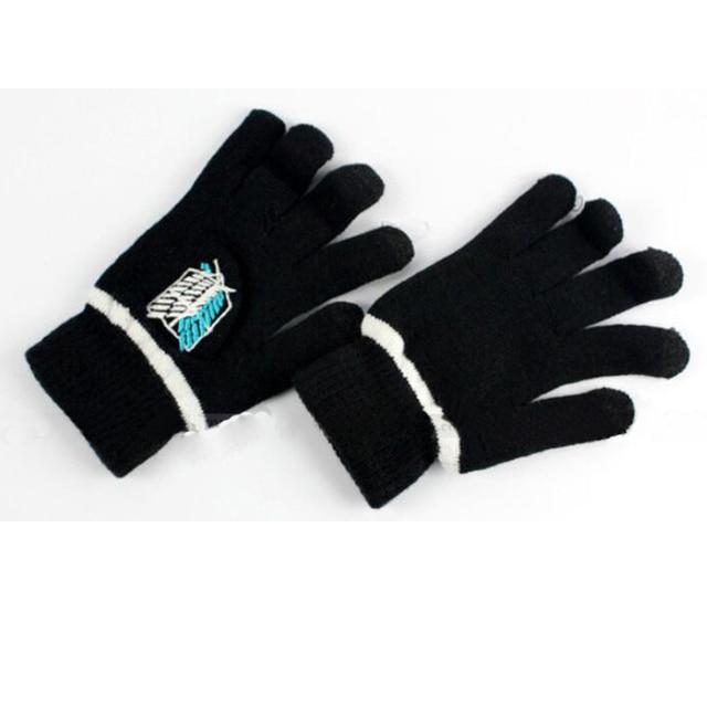 6a30e9e21 Gloves Anime Naruto Attack On Titan Black Butler Death Note Full Finger  Plush Knit Glove Mitten Cosplay Screen Touchable
