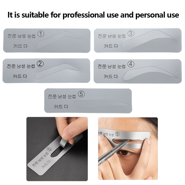 brand new 5pcs plastic eyebrow template shaper DIY eyebrow sticker makeup models eyebrow molding stencils eyebrows shaping tools 5