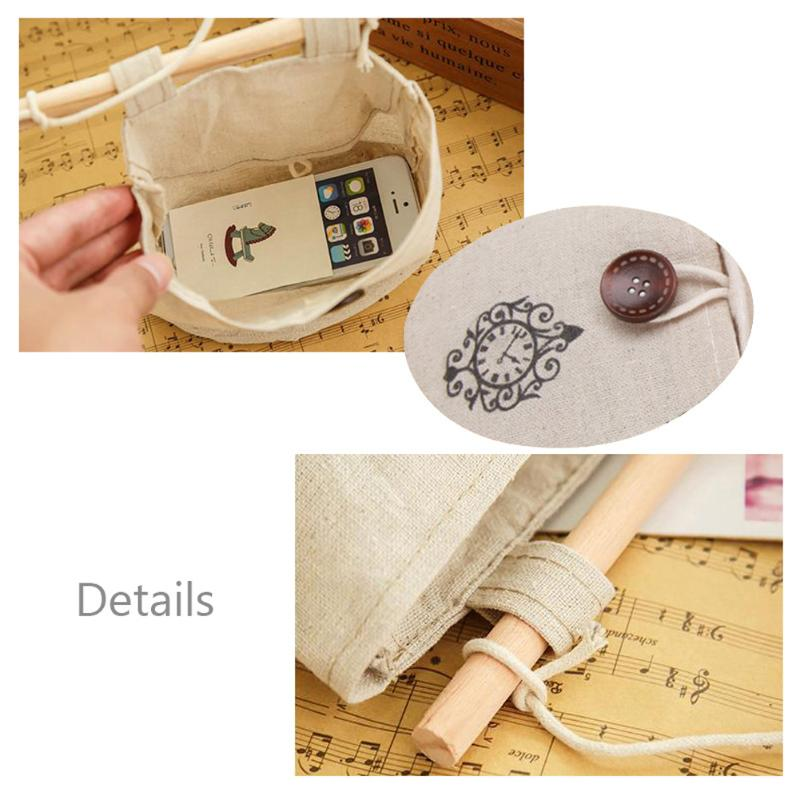 1 шт. хлопковая настольная подвесная сумка, тканевый органайзер для мелочей, карман для карт, держатель, сумки, настенная стойка, складские принадлежности для школы