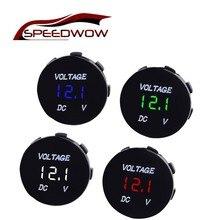 SPEEDWOW Universal Auto Boat Car Motorcycle LED DC 5V-48V Panel Mini Digital Volt Voltage Meter Tester Monitor Display Voltmeter