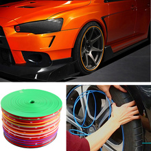 8m Car Wheel Rim Protector Hub Tire Sticker Auto Decor Strip Care Cover Moulding Styling for Infiniti q50 Universal