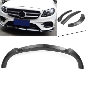 Auto Car Front Bumper Lip Cover Trim For Benz E-class W213 Sport Version 2017 2018 Matte Black
