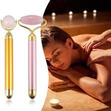 1PC Beauty Bar Jade Stone Facial Roller Face Vibration Skincare Massager Device