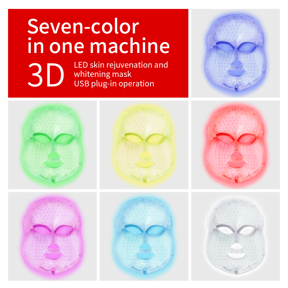 foreverlily Beauty Photon LED Facial Mask Therapy 7 colors Light Skin Care Rejuvenation Wrinkle Acne Removal Face Beauty Spaforeverlily Beauty Photon LED Facial Mask Therapy 7 colors Light Skin Care Rejuvenation Wrinkle Acne Removal Face Beauty Spa